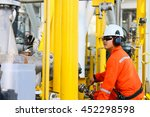 operator recording operation of ... | Shutterstock . vector #452298598