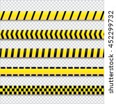 police cordon yellow tapes.... | Shutterstock .eps vector #452299732