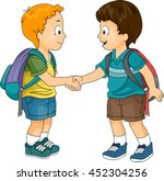 illustration of little boys... | Shutterstock .eps vector #452304256