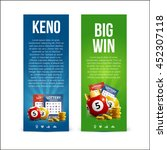 lottery banners with realistic... | Shutterstock .eps vector #452307118
