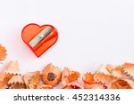 heart shaped sharpener with... | Shutterstock . vector #452314336