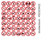 restrictive signs | Shutterstock .eps vector #452315422