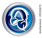headphone | Shutterstock .eps vector #45232672