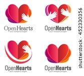 vector set of logos for charity.... | Shutterstock .eps vector #452330356