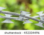 Barbed Wire Fence Of A...