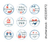 set of hand drawn labels ... | Shutterstock .eps vector #452335972