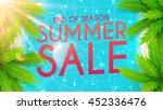 summer sale banner. beautiful... | Shutterstock .eps vector #452336476