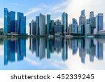 singapore city skyline of... | Shutterstock . vector #452339245