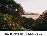 shoreline rocks at sunset near... | Shutterstock . vector #452339602