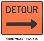 detour right road sign   Shutterstock . vector #4523515