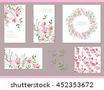 floral spring templates with... | Shutterstock .eps vector #452353672