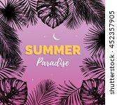 vector vintage summer paradise... | Shutterstock .eps vector #452357905