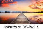 perspective view of a wooden... | Shutterstock . vector #452359615