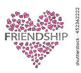 friendship day banner. vector... | Shutterstock .eps vector #452362222