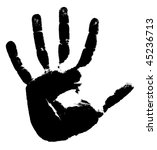 Black Print Of A Hand On A...