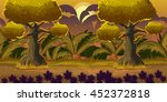 cartoon forest landscape ...