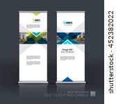 vector set of modern roll up... | Shutterstock .eps vector #452382022