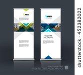 vector set of modern roll up... | Shutterstock .eps vector #452382022