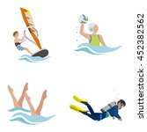 water sports vector icons | Shutterstock .eps vector #452382562