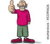 a character with thumb up | Shutterstock .eps vector #452390626