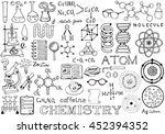 chemistry science doodle... | Shutterstock .eps vector #452394352