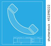 phone sign illustration. white...