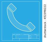 phone sign illustration. white...