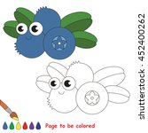 funny blueberry to be colored.... | Shutterstock .eps vector #452400262