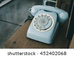 vintage analog telephone | Shutterstock . vector #452402068