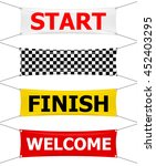 start  finish and welcome... | Shutterstock .eps vector #452403295