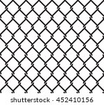 metallic wired fence seamless... | Shutterstock .eps vector #452410156