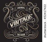 Vintage label, frame design, typography, retro logo template,vector illustration