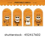 vector printable gift tags ... | Shutterstock .eps vector #452417602