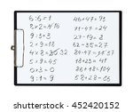 clipboard and paper sheet with... | Shutterstock . vector #452420152
