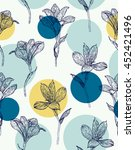 seamless floral pattern.... | Shutterstock .eps vector #452421496
