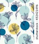 seamless floral pattern.... | Shutterstock .eps vector #452421496