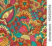 hand drawn seamless pattern...   Shutterstock .eps vector #452422456