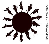 vector  isolated  set children... | Shutterstock .eps vector #452427022