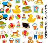 vector pattern for kindergarten ... | Shutterstock .eps vector #452429596