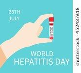 world hepatitis day awareness...   Shutterstock .eps vector #452437618