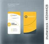 vertical business card template ...   Shutterstock .eps vector #452444428