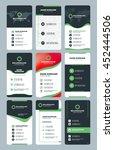 set of modern vertical business ... | Shutterstock .eps vector #452444506