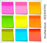 colored sticky note  vector...