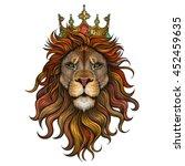 Vector Color King Lion...