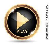 play icon. internet button on... | Shutterstock . vector #452461192