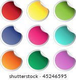 stock color vector glossy... | Shutterstock .eps vector #45246595