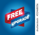 free upgrade arrow tag sign... | Shutterstock .eps vector #452468056