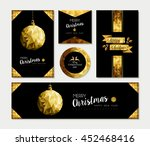 set of merry christmas happy... | Shutterstock .eps vector #452468416