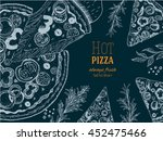 pizza design template. vector... | Shutterstock .eps vector #452475466