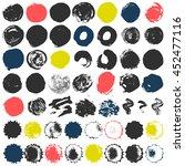 set of 50 grungy artistic... | Shutterstock .eps vector #452477116